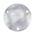 "Aluminum Base Plate 7-3/4"" RND9/16"" holes, 1/4"" Thick"