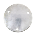 "Aluminum Base Plate 5-3/4"" RND7/16"" holes, 1/4"" Thick"