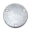 "Beveled ALUM Base Plate 6-3/4""RND, 9/16"" Holes, 1/2"" Thick"