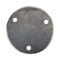"Beveled Base Plate 4-3/4"" RND Steel 7/16"" Holes, 3/16"" Thick"