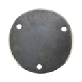 "Beveled Base Plate 5-3/4"" RND Steel 7/16"" Holes, 3/16"" Thick"