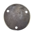 "Beveled Base Plate 6-3/4"" RND Steel 9/16"" Holes, 1/4"" Thick"