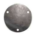 "Beveled Base Plate 7-3/4"" RND Steel 9/16"" Holes, 1/4"" Thick"