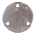 "Beveled Base Plate 6-3/4"" RND Steel 9/16"" Holes, 1/2"" Thick"