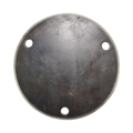 "Beveled Base Plate 7-3/4"" RND Steel 9/16"" Holes, 1/2"" Thick"