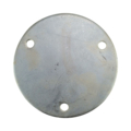 "Galvanized Base Plate 5-3/4"" RND 7/16"" holes , 3/16"" Thick"