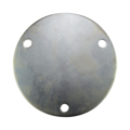 "Galvanized Base Plate 7-3/4"" RND 9/16"" holes , 1/4"" Thick"