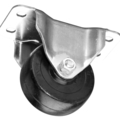 "Caster, General Duty Rubber-Steel, 6"", Rigid"