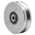 "Steel V-Groove Power Wheel. 4""x 1-1/4"""