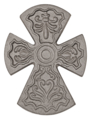 "Cast Iron Cross, 8-5/8"" H, SF"