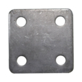 "Steel Base Plate, 3"" Square, 7/16"" Holes Thickness 3/16"""