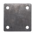 "Steel Base Plate, 4"" Square, 7/16"" Holes, Thickness 3/16"""