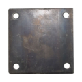 "Steel Base Plate, 5"" Square. 7/16"" Holes. Thickness 3/16"""