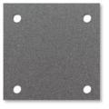 "Steel Base Plate, 10"" Square,9/16"" Holes, Thickness 1/4"""