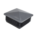 "Plastic Pyramid Plug. 2"" Square, 14-20 Gauge, Black"