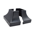"Plastic Shoe Black. Fits Over 1-1/2"" Square 2 havles=1pair"