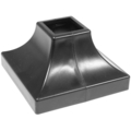 "Plastic Shoe Black. Fits Over1-1/2"" Square 2 havles=1pair"