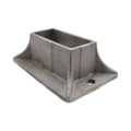 "Cast Iron Rectangular Shoe, Fits 1.5"" x 3.5"" Sq."