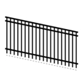 "FlatTop1.25""3Rail14G5/8""Picket18G-70""x94""Rake"