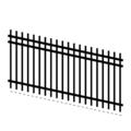 "Picket1.25""3Rail14G5/8""Picket18G-70""x94""Rake"