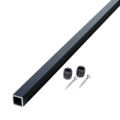 "42"" Black Alum. cable brace undrilled for stairs, 2 stair pl"