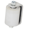 "Non-Marring Guide Roller, 3""  w/Aluminum Bracket, White"
