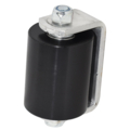 "Non-Marring Guide Roller, 3""  w/Aluminum Bracket, Black"