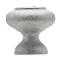 "Cast Iron Finial,1-1/2"" Solid Round Base"
