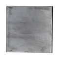 "Steel Base Plate, 4"" Square, No Holes, 3/16"" Thickness"