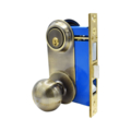 Mortise Lockset, Knob & Plate,DC, Antique Brass, Left
