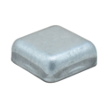 "Pressed Steel Post Cap. Fits 3/4"" Square. Flat Top"