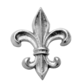 "Aluminum Fleur-de-Lis, Single Faced. 4-3/8"" H"