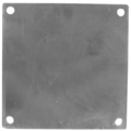 "Steel Base Plate, 10"" Square,1/2"" Holes"