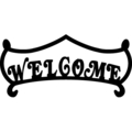 "Plasma, Welcome Sign. 16""W, 5-1/2""H"
