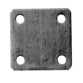 "Steel Base Plate, 3"" Square, 3/8"" Holes Thickness 3/16"""