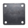 "Steel Base Plate, 4"" Square, 3/8"" Holes, Thickness 3/16"""
