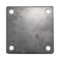 "Steel Base Plate, 5"" Square. 3/8"" Holes. Thickness 1/4"""
