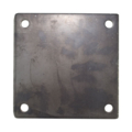 "Steel Base Plate, 6"" Square, 3/8"" Holes. Thickness 1/4"""
