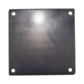 "Steel Base Plate, 8"" Square, 3/8"" Holes. Thickness 1/4"""