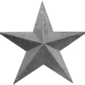 "Stamped/Fabricated Star. 55""W,52-1/4""H"