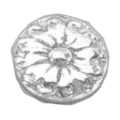 "Cast Iron Rosette Flat Back.1-1/2"" Diameter."