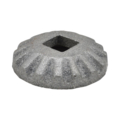 "Cast Iron Shoe. 2"" Diameter, Fits 1/2"" Square."