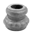 "Cast Iron Collar Base. Fits5/8"" Round, 1-1/4"" H"