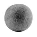 "Solid Cast Iron Ball. 1-1/2"" Diameter"
