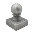 "Cast Iron Post Ball. Fits 1-1/2"" Square"