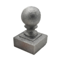 "Cast Iron Post Ball. Fits 1-1/4"" Square"