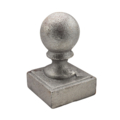 "Cast Iron Post Ball. Fits 2"" Square"