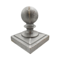 "Cast Iron Post Ball. Fits 4"" Square"