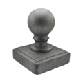 "Cast Iron Post Ball. Fits 3"" Square"