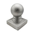 "Cast Iron Post Ball. Fits 2-1/2"" Square"